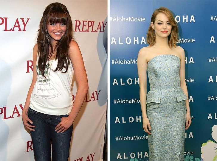Emma Stone 2006 y ahora