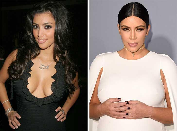 Kim Kardashian 2006 y ahora