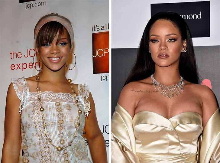 Rihanna 2006 y ahora