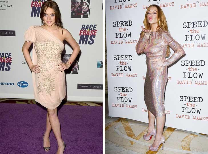 Lindsay Lohan 2006 y ahora