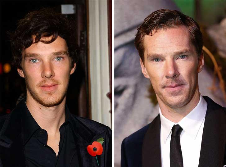 Benedict Cumberbatch 2006 y ahora