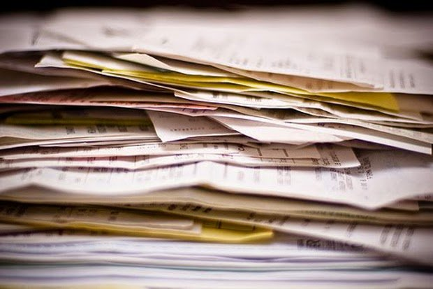 recibos y facturas viejas