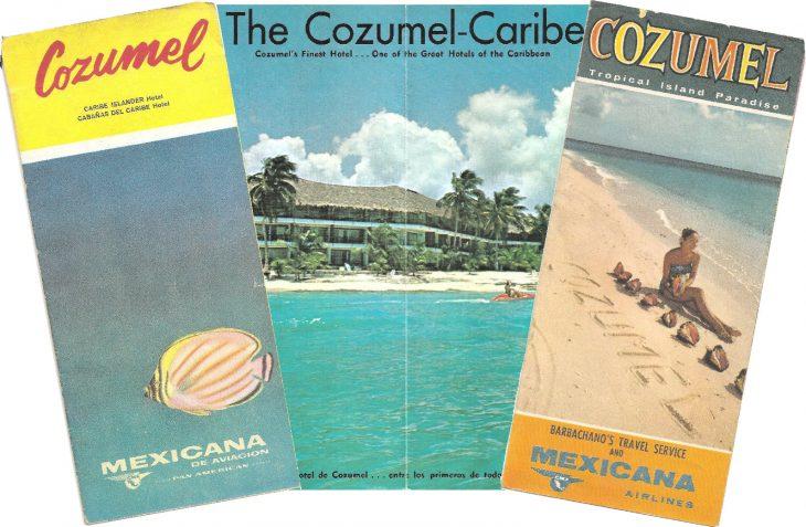 folletos turísticos viejos