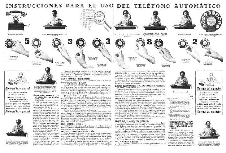 manual de instrucciones viejo de teléfono de disco