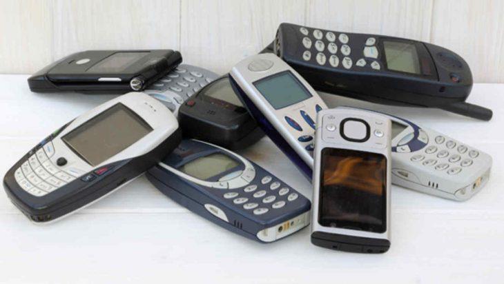 teléfonos celulares viejos