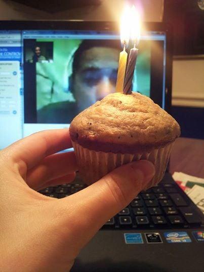 cita romantica via skype panque y velas