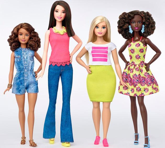 Nueva linea de muñecas de barbie en distintos tonos y colores