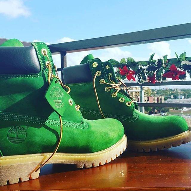 Botas Timberland color verde