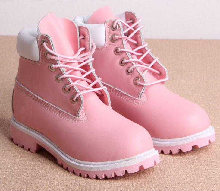 Botas Timberland color rosa