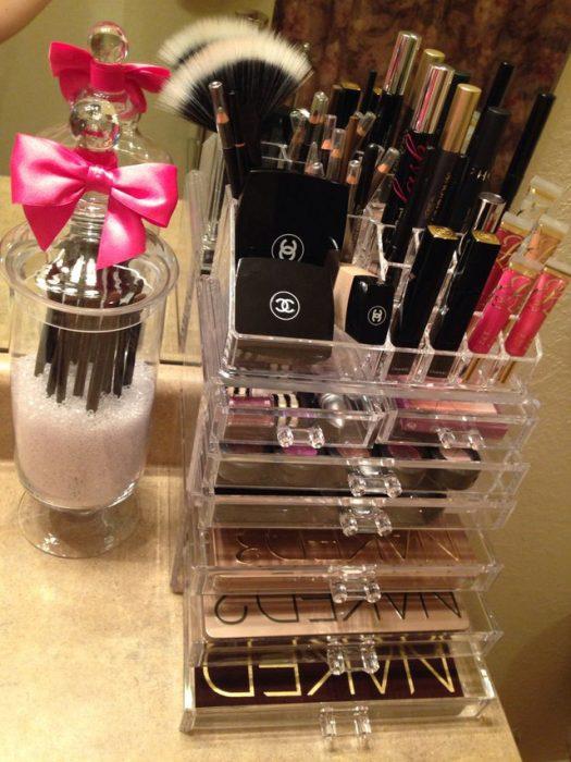 Organizador acrilico de maquillaje