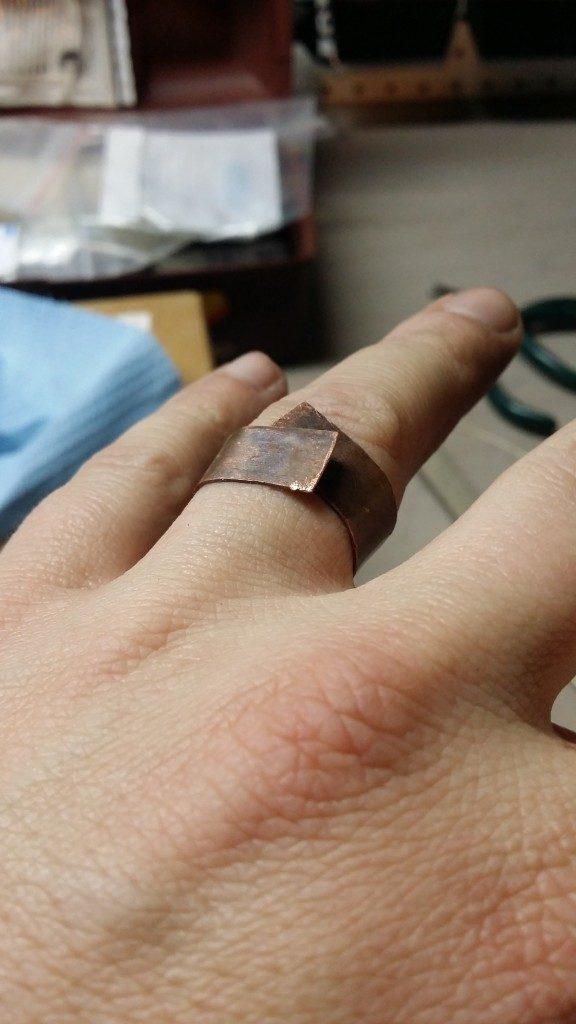como hacer anillo de cobre