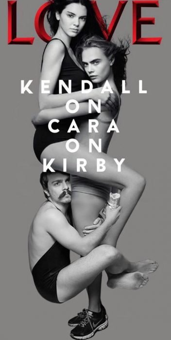 Chico apareciendo de manera divertida en las fotos de Kendall Jenner y Cara Delevigne