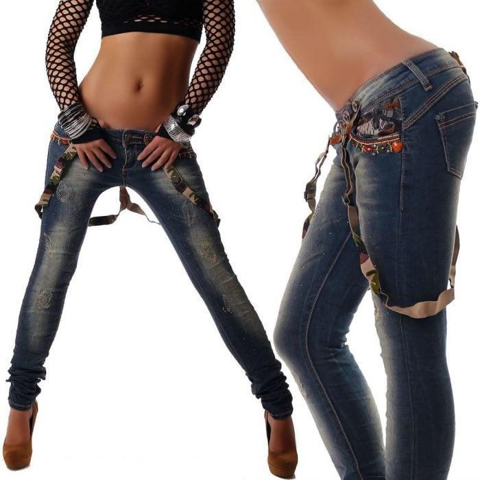 Pantalones a la cadera