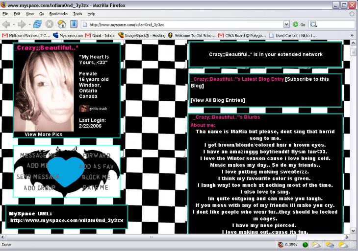 perfil de myspace