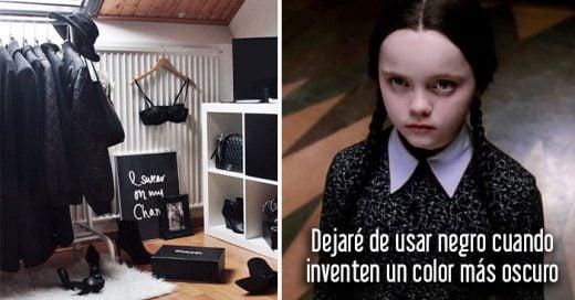 20 Cosas que sólo entenderán las chicas que aman vestirse con ropa de color  negro 2898826c48bd
