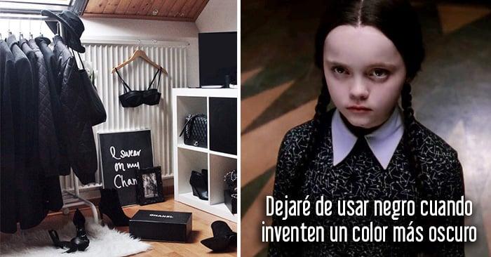 20 Cosas que sólo entenderán las chicas que aman vestirse con ropa de color negro