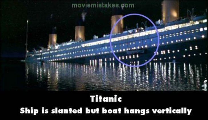 Errores de la película Titanic barcos salvavidas desaparecen del barco