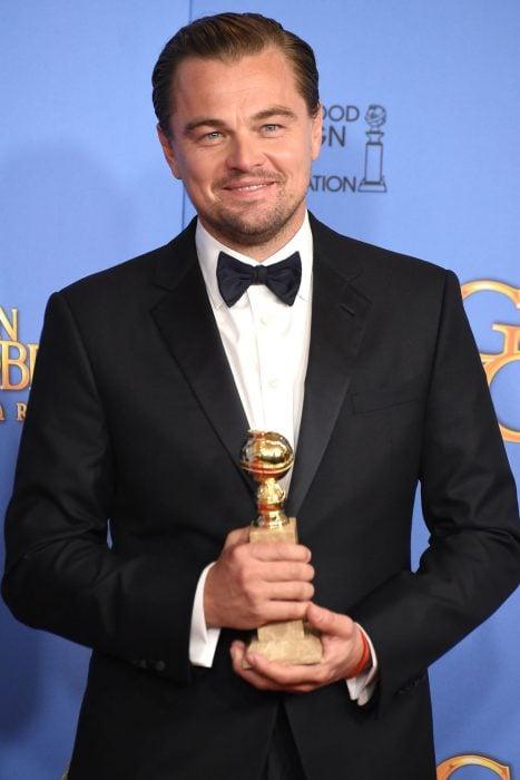 Leonardo DiCaprio en los globos de oro del 2016