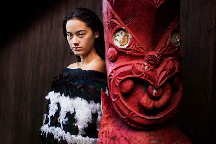 mujer de Nueva Zelanda fotografiada por Mihaela Noroc