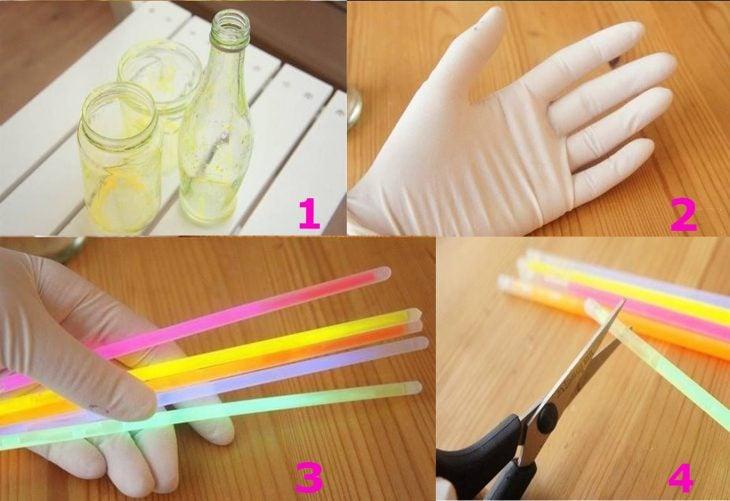 Materiales necesarios para crear un frasco luminoso