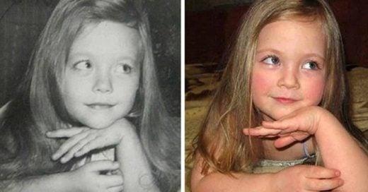 28 Impresionantes fotografías de padres e hijos a la misma edad