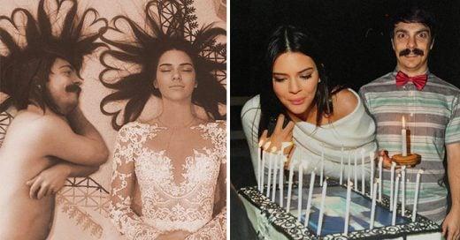 Un hombre edita las fotos de Kendall Jenner para incluirse en ellas de una manera sorprendente e ingeniosa