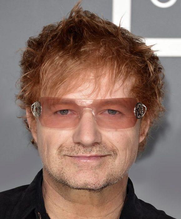 mezcla de Bono y Ed Sheeran