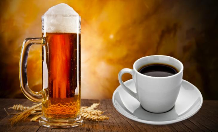 cerveza y café