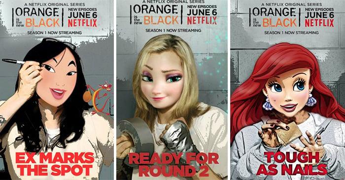 Las princesas de Disney fueron puestas tras las rejas, así lucen como las reclusas de 'Orange Is The New Black'