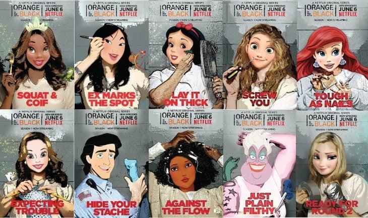 Princesas de Disney como personajes de OITNB (10)