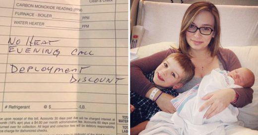 Reparador electrico de buen corazon arregló la calefacción de esposa de militar en servicio con dos hijos
