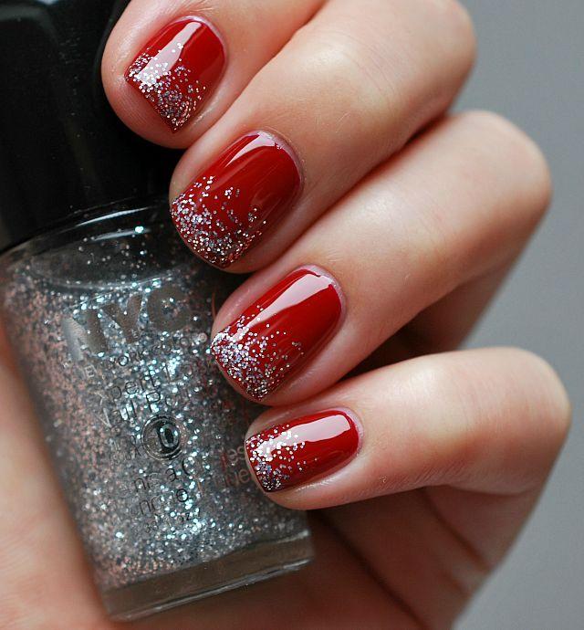 26 Red And Silver Glitter Nail Art Designs Ideas: 20 Uñas De Color Rojo Que Necesitas Tener Ahora Mismo
