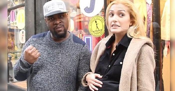 Video de experimento social que muestra a un hombre que golpea a su novia embarazada