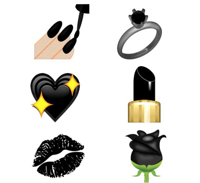Emojis color negro
