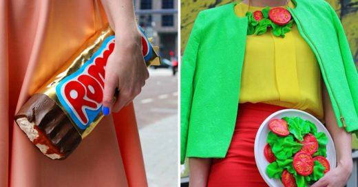 la diseñadora Rommy Kuperus ha logrado proyectar la comida en moda