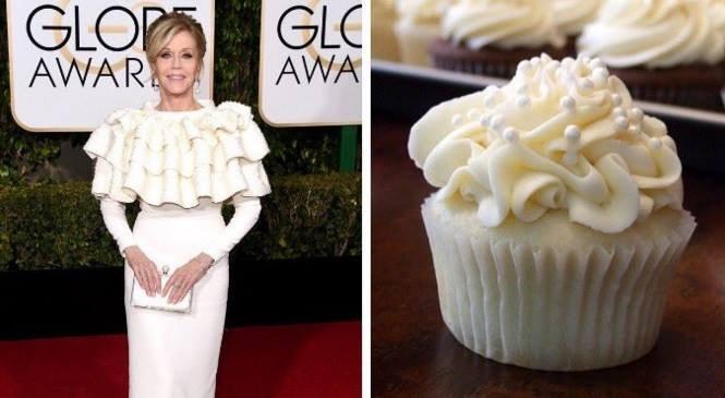 Jane fonda luciendo como un pastelillo