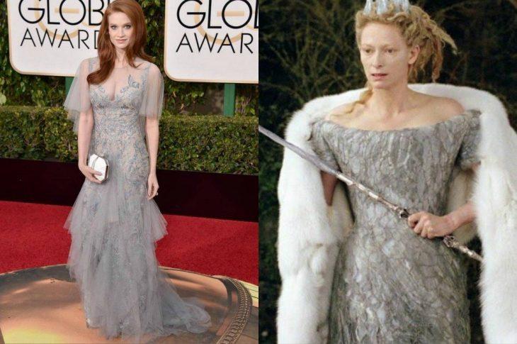 Sarah Heno siendo comparada con la reina blanca de la película Narnia