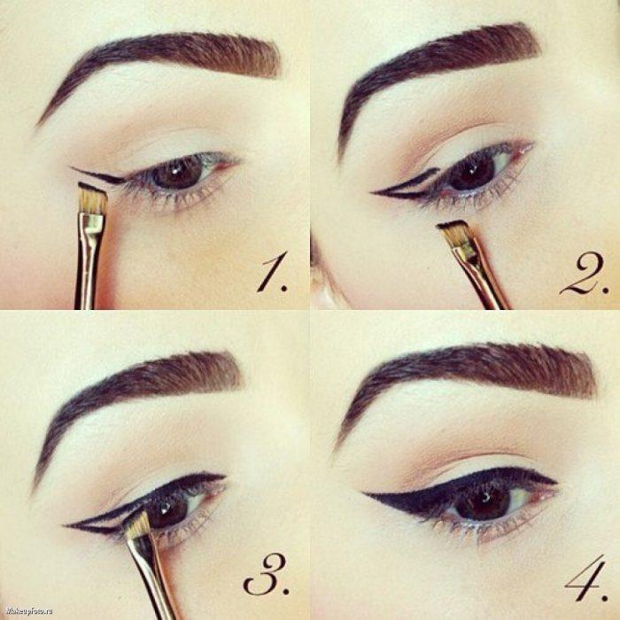 delineado de ojos maquillaje