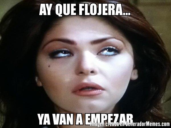 mujer meme soraya cara de flojera rolled eye