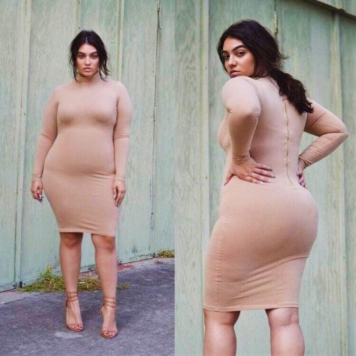 modelo talla grande sexy vestido