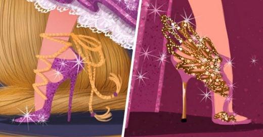 Normand Lemay y Griselda Sastrawinata Lemay, dos talentosos animadores de los estudios de Disney, crearon fabulosas zapatillas dignas de las princesas de Disney basándose en zapatillas de distintos diseñadores reconocidos