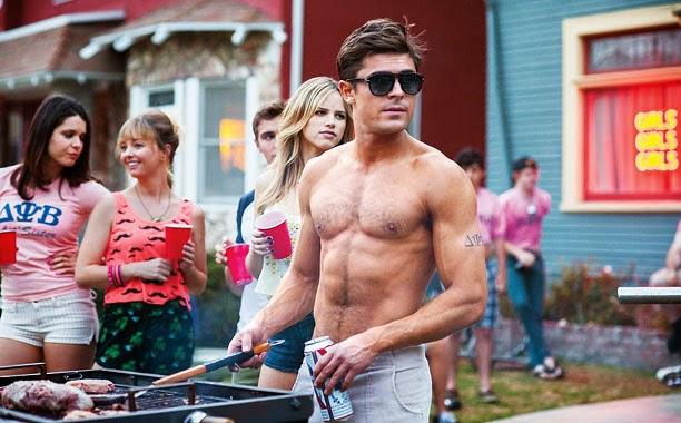 Zac efron sin camisa en la nueva película de buenos vecinos 2