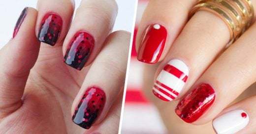 Diferentes diseños e ideas para uñas en tonos rojos
