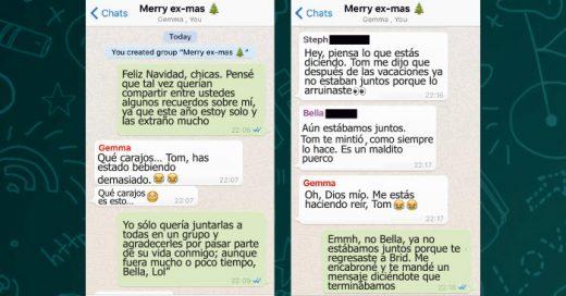 Un hombre agregó a sus ex novias a un grupo de WhatsApp para desearles feliz navidad, pero la reacción de ellas no fue muy buena