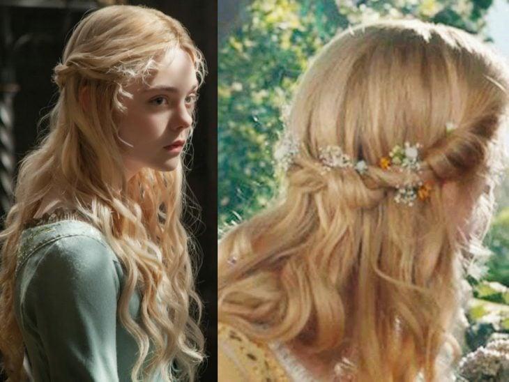 peinados para niñas inspirado en princesa aurora de malefica