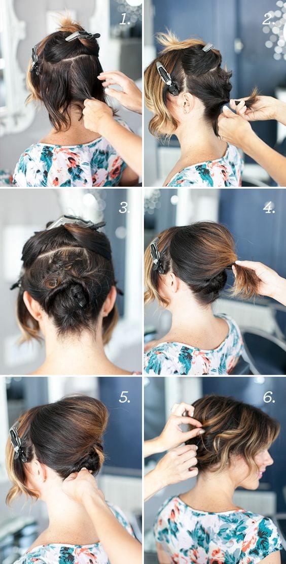 10 Tutoriales De Peinado Para Cabello Corto