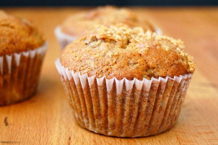 muffin de plátano y kiwi