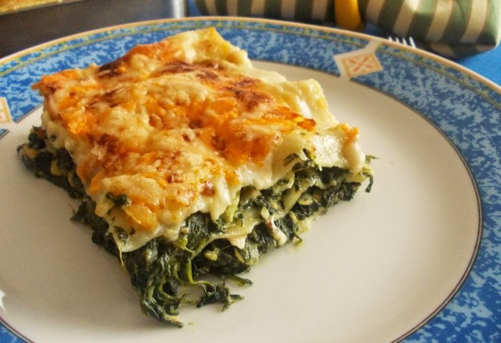 lasagna de atún con espinacas