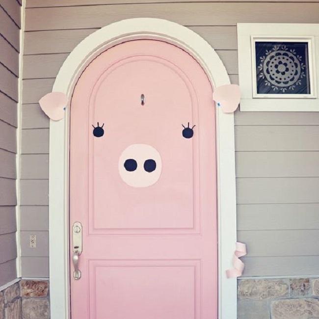 puerta en forma de cerdito