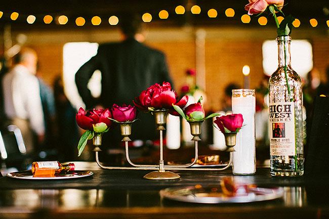 centros de mesa en candelabro